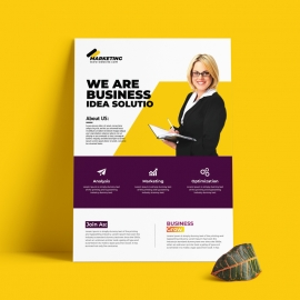 Purple And Yellow Accent Business Flyer Template