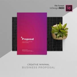 Purple Assent Minimal Creative Proposal Template