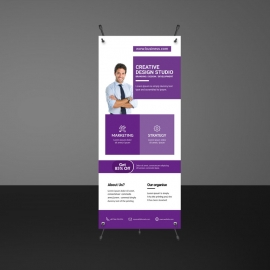 Purple Boxs Corporate Rollup Banner