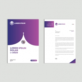Purple Gradient Letterhead Layout