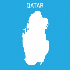 Qatar Map Vector Design