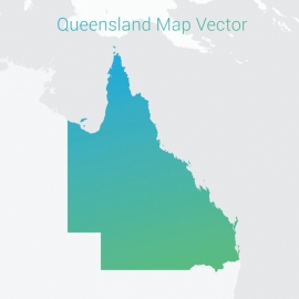 Queensland Map By Gradient Color Vector Design