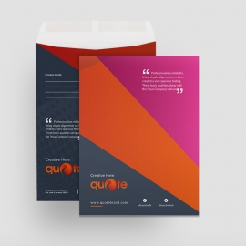 Quote Brand Catalog Envelope