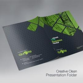 Quote Brand Creative Presentation Folder