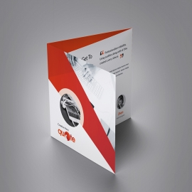 Quote Brand Squre Trifold Brochure