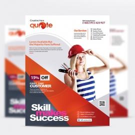 Quote Pro Brand Creative Flyer