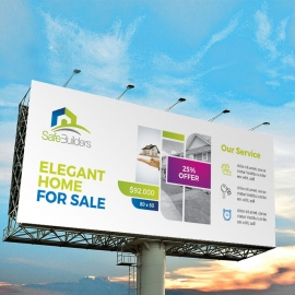 Real Estate Billboard Banner With Boxs