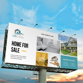 Real Estate Billboard Banner With Paste Boxs