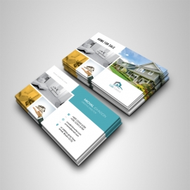 Real Estate Business Card With Paste Boxs