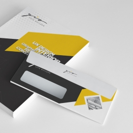 Real Estate Construction  Creative Minimal Commerial Envelope