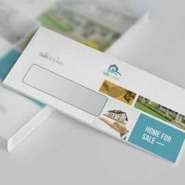 Real Estate DL Envelope Commercial With Paste Boxs