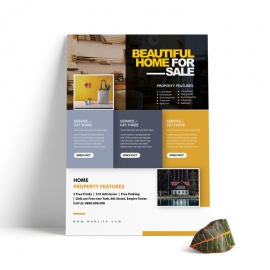 Real Estate Flyer WIth Black And Yellow Accent