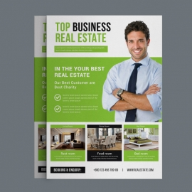 Real Estate Flyer With Green Concepts