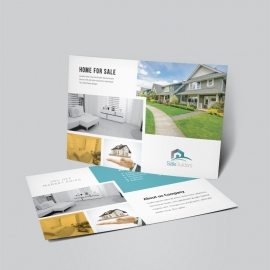 Real Estate Postcard With Paste Boxs