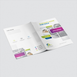 Real Estate Presentation Folder With Boxs
