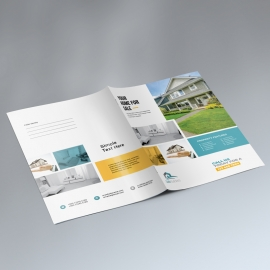 Real Estate Presentation Folder With Paste Boxs