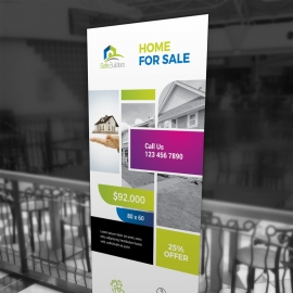 Real Estate Rollup Banner With Boxs