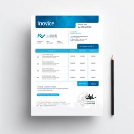RealEstate Creative Invoice