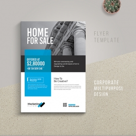 RealEstate Flyer With Blue Accent