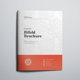 Red Accent Business Bi_Fold Brochure
