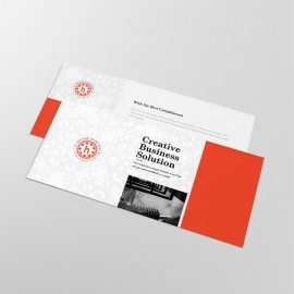 Red Accent Business Compliment Card With Boxs