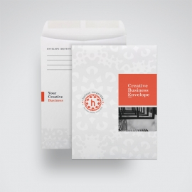 Red Accent Business Envelope Catalog With Boxs