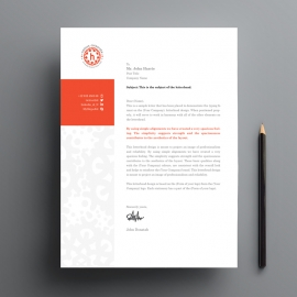 Red Accent Business Letterhead With Boxs