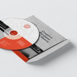 Red Accent CD Sleeve And Sticker Pack
