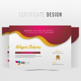 Red Accent Corporate/Achievement Diploma Certificate