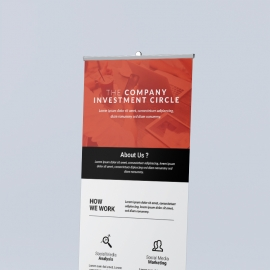 Red Accent Creative Business Rollup Banners