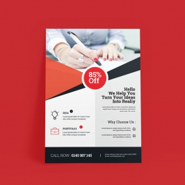 Red Accent Flyer Template
