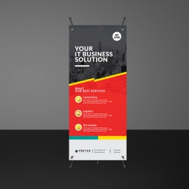 Red Accent Rollup Banner