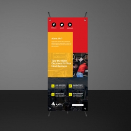 Red And Orange Accent Rollup Banners