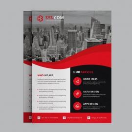 Red Business Flyer Design