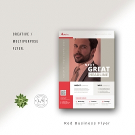 Red Business Flyer Layout