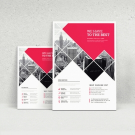 Red Business Flyer Template Design