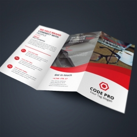 Red Business TriFold Brochure