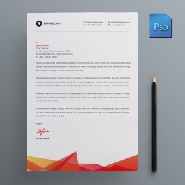 Red Corporate Business Letterhead