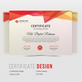 Red Corporate Certificate Design