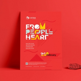 Red Poster For Creative Event And Celebration