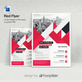 Red Psd Flyer Template