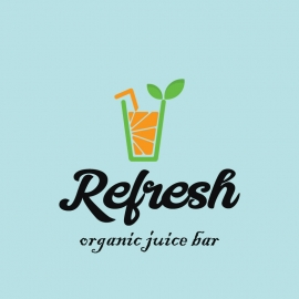 Refresh Organic Juice Bar Logo