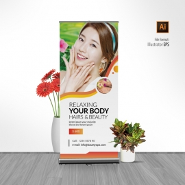 Relax Beauty & Spa Rollup Banner