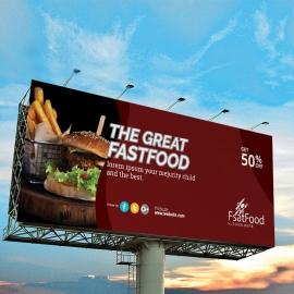 Restaurant & Fast Food Billboard Banner
