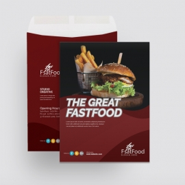 Restaurant & Fast Food Catalog Envelope