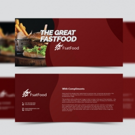 Restaurant Fast Food Compliment Card