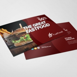 Restaurant Fast Food Post Card