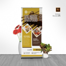 Restaurant Fast Food Rollup Banner