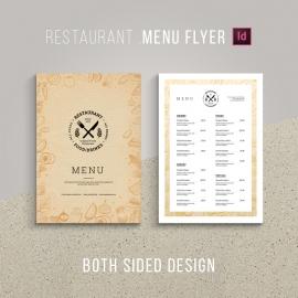 Retro Style Golden Food Menu Flyer & Poster Design