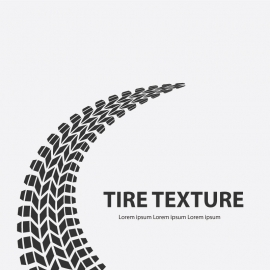 Road Tire Texture On With Background
